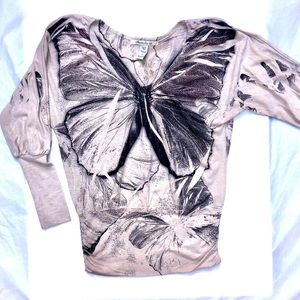 90s grunge butterfly pullover sweater. Size small
